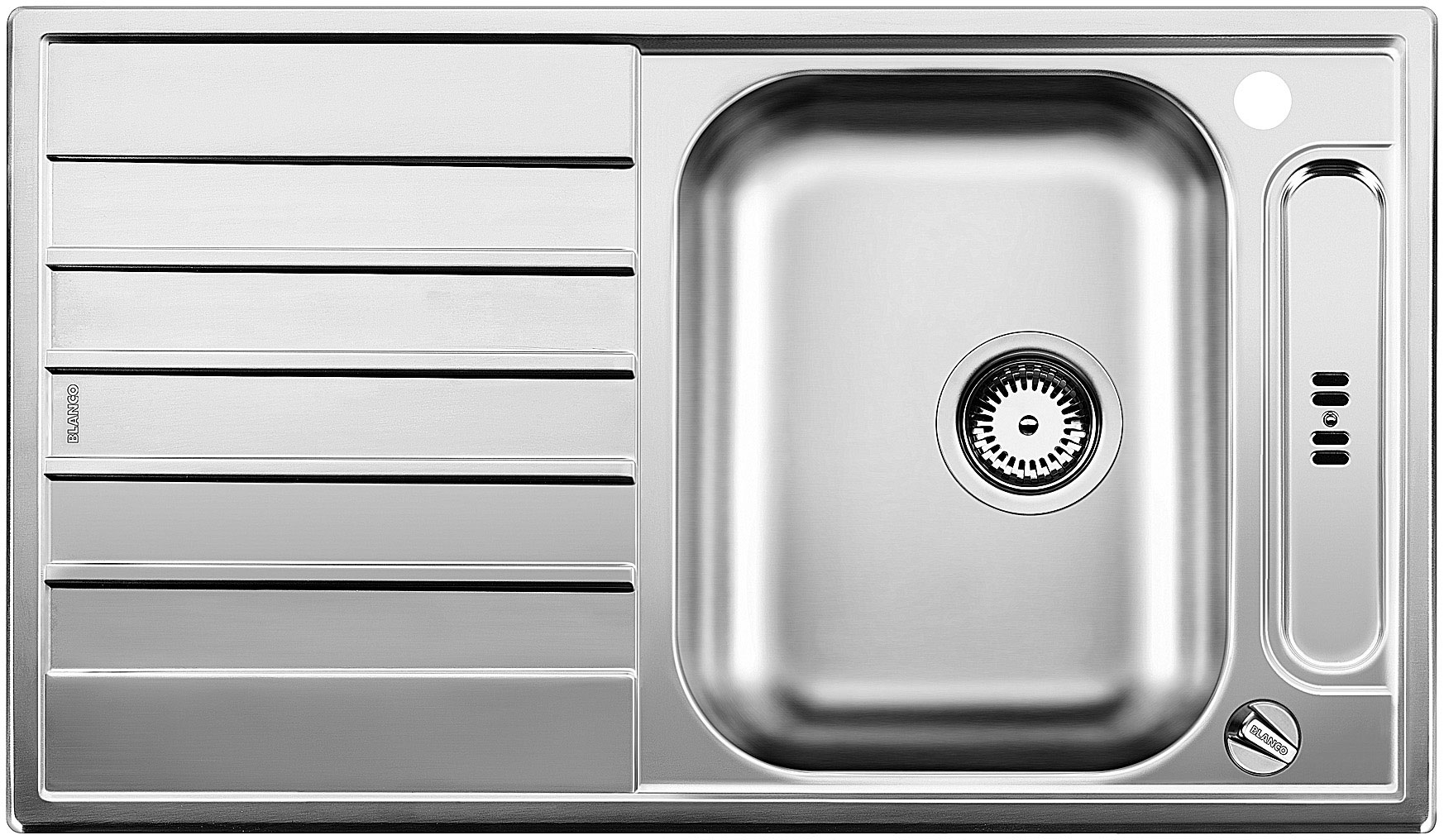 Blanco LIVIT 45 S Centric Nerez kartáčovaný oboustranné provedení s excentrem