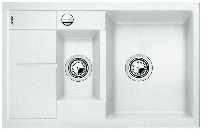 Blanco METRA 6 S Compact Silgranit bílá oboustranné provedení s excentrem