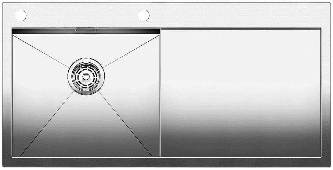 Blanco ZEROX 5 S-IF Nerez hedvábný lesk dřez vlevo s táhlem