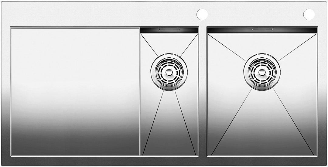 Blanco ZEROX 6 S-IF Nerez dřez vlevo s táhlem