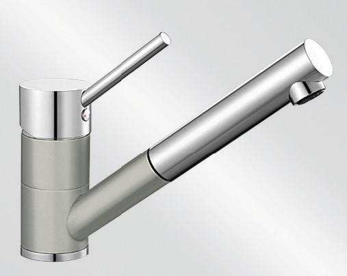 Blanco ANTAS-S HD Silgranit-look dvoubarevná perlově šedá/chrom