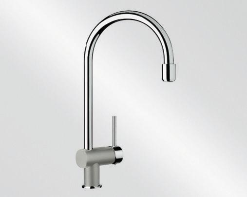 Blanco FILO-S Silgranit-look dvoubarevná perlově šedá/chrom