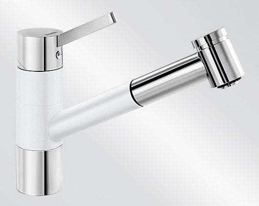 Blanco TIVO-S HD Silgranit-look dvoubarevná bílá/chrom