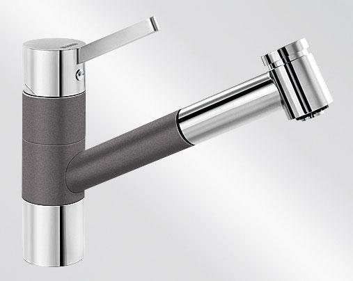 Blanco TIVO-S HD Silgranit-look dvoubarevná šedá skála/chrom