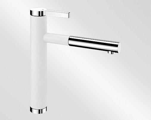 Blanco LINEE S Silgranit-look dvoubarevná bílá/chrom
