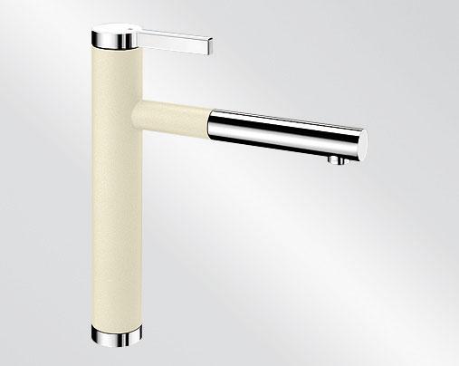 Blanco LINEE S Silgranit-look dvoubarevná jasmín/chrom