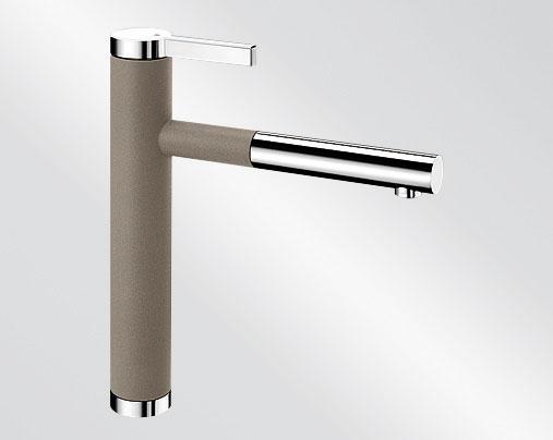 Blanco LINEE S Silgranit-look dvoubarevná tartufo/chrom