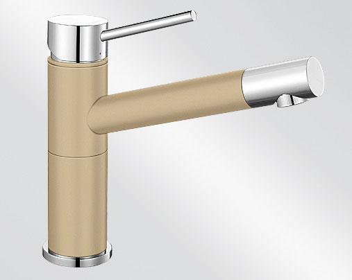 Blanco ALTA Compact Silgranit-look dvoubarevná béžová champagne/chrom