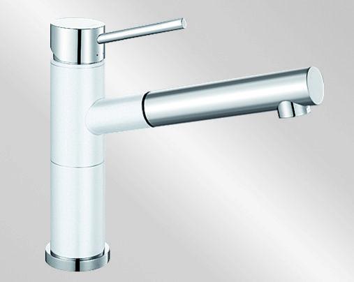 Blanco ALTA-S Compact Silgranit-look dvoubarevná bílá/chrom