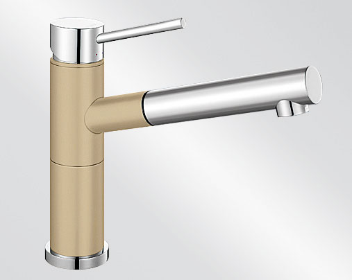 Blanco ALTA-S Compact Silgranit-look dvoubarevná béžová champagne/chrom