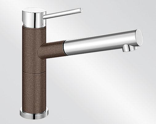 Blanco ALTA-S Compact Silgranit-look dvoubarevná kávová/chrom