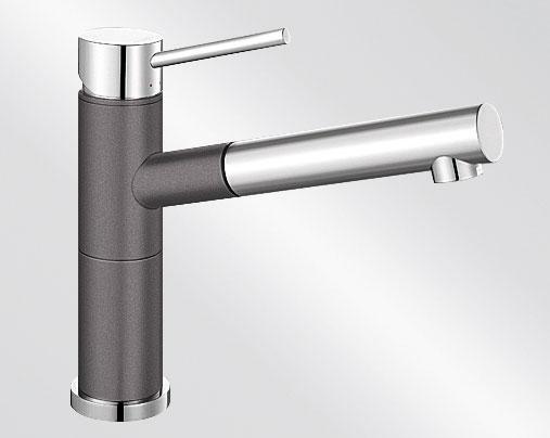 Blanco ALTA-S Compact Silgranit-look dvoubarevná šedá skála/chrom