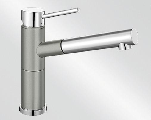 Blanco ALTA-S Compact Silgranit-look dvoubarevná perlově šedá/chrom