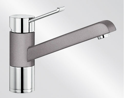 Blanco ZENOS Silgranit-look dvoubarevná aluminium/chrom