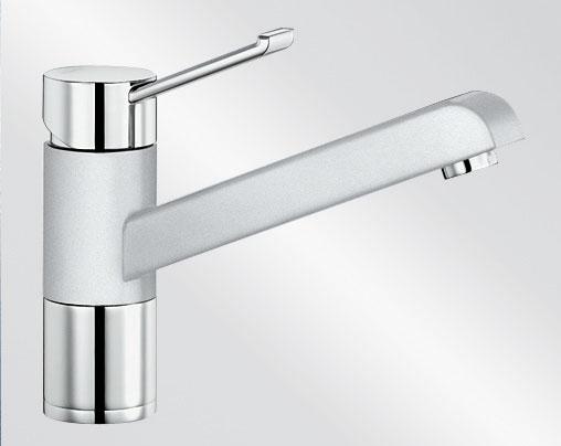 Blanco ZENOS Silgranit-look dvoubarevná bílá/chrom
