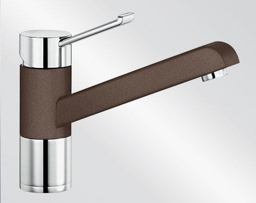 Blanco ZENOS Silgranit-look dvoubarevná kávová/chrom