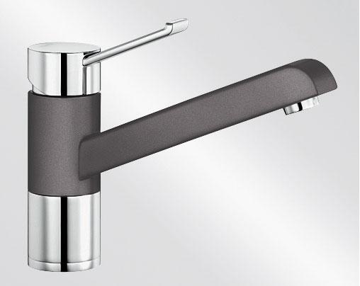 Blanco ZENOS Silgranit-look dvoubarevná šedá skála/chrom