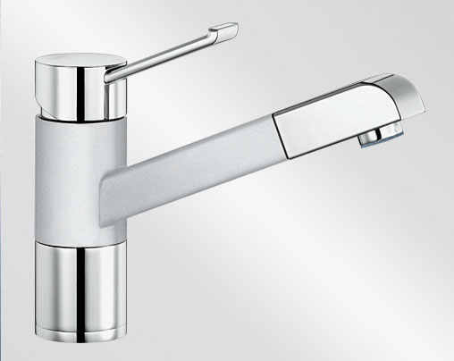 Blanco ZENOS-S Silgranit-look dvoubarevná bílá/chrom