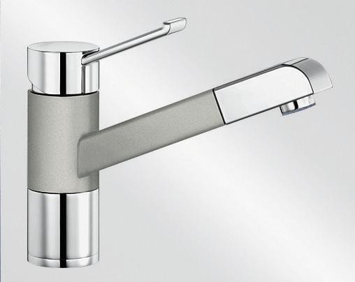 Blanco ZENOS-S Silgranit-look dvoubarevná perlově šedá/chrom