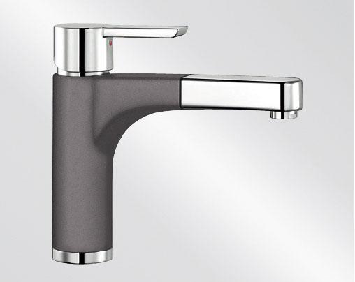 Blanco PYLOS-S Silgranit-look dvoubarevná šedá skála/chrom