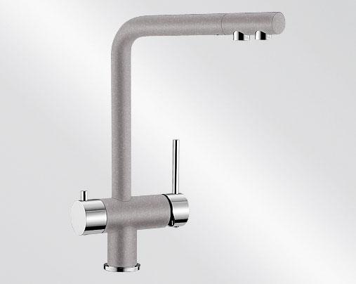 Blanco FONTAS Silgranit-look dvoubarevná aluminium/chrom