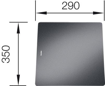 Krájecí deska sklo černé pro STATURA 350 290 mm