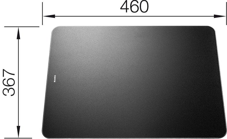 Krájecí deska sklo černá pro  ZENAR 367x460