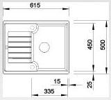 Blanco ZIA 40 S Silgranit tartufo oboustranné provedení