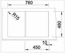 Blanco ZIA 45 S Silgranit jasmín oboustranné provedení s excentrem