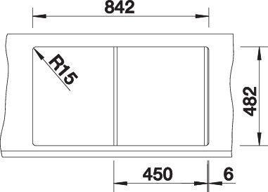 Blanco TIPO 45 S Nerez kartáčovaný oboustranné provedení