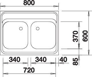 Blanco Z 8x6 Nerez přírodní lesk oboustranné provedení +armatura 504748