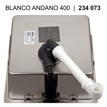 Blanco ANDANO 400 IF InFino Nerez hedvábný lesk bez táhla