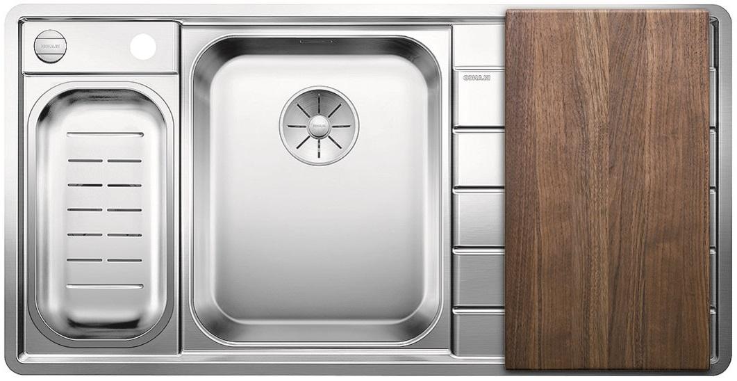 Blanco AXIS III 6 S-IF Edition InFino nerez hedvábný lesk dřez vlevo s exc. přísluš. ano