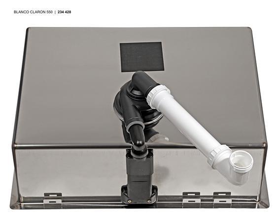 Blanco CLARON 550-IF InFino Nerez hedvábný lesk  bez táhla