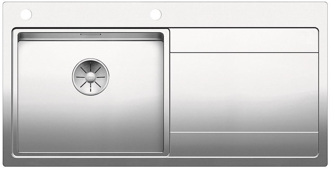 Blanco DIVON II 5 S-IF InFino Nerez hedvábný lesk dřez vlevo s excentrem