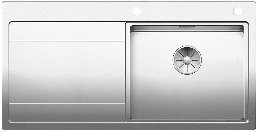 Blanco DIVON II 5 S-IF InFino Nerez hedvábný lesk dřez vpravo s excentrem