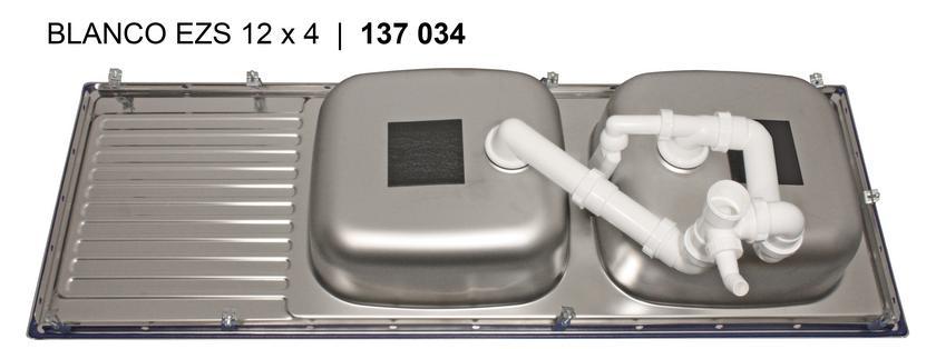Blanco TOP EZS 12 x 4-2 Nerez přírodní lesk oboustranné provedení+137034