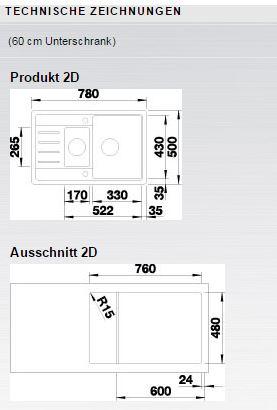 Blanco LEGRA 6 S Compact Silgranit antracit oboustranné prov.