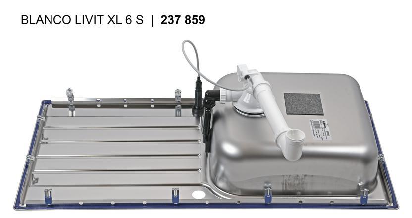 Blanco LIVIT XL 6 S Nerez kartáčovaný oboustranné provedení s excentrem
