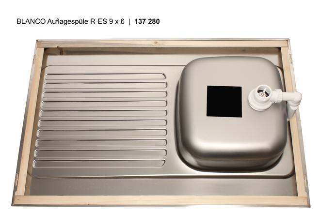 Blanco R-ES 9x6 Nerez přírodní lesk oboustranné provedení +armatura 222458