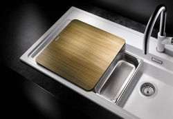 Blanco ZENAR XL 6 S-F Silgranit DFG. kávová dřez vpravo s excentrem kráj.deska dřevo