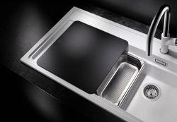 Blanco ZENAR XL 6 S-F Silgranit DFG. aluminium dřez vpravo s excentrem kráj.deska sklo