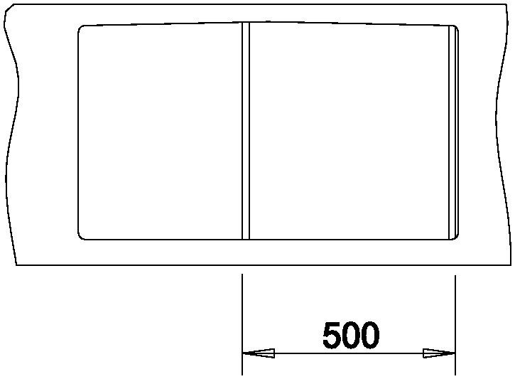 Blanco AXIA II 5 S-F Silgranit šedá skála dřez vpravo s excentrem přísluš. ano