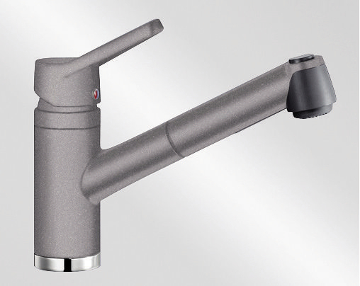 Blanco ACTIS-S Silgranit-look aluminium