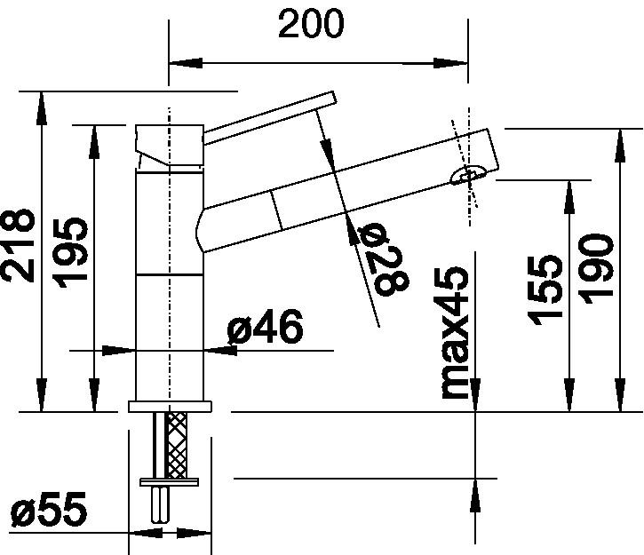 Blanco ALTA-S Compact Vario chrom