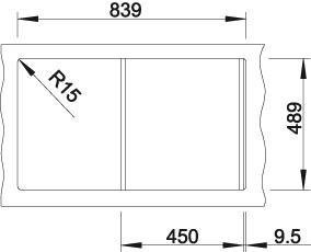 Blanco AXIS III 45 S-IF InFino Nerez hedvábný lesk obous. prov. s excentrem přísluš. ano