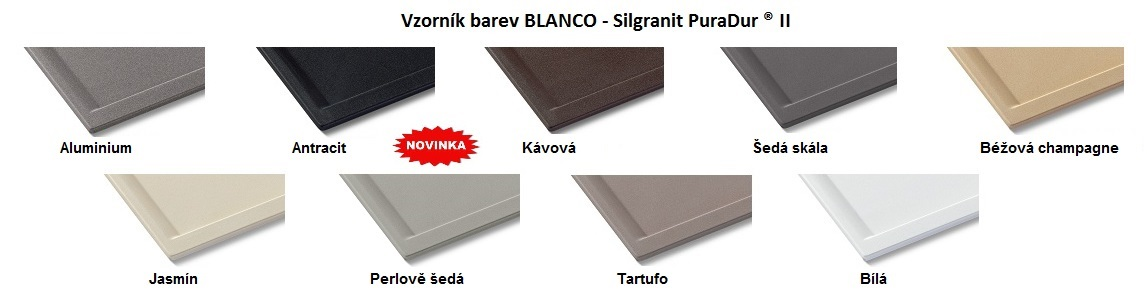 Blanco ZIA 45 SL Silgranit aluminium oboustranné provedení