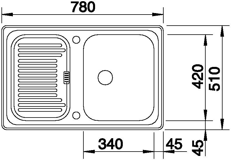Blanco CLASSIC 45 S Basic Silgranit bílá oboustranné provedení bez excentru!
