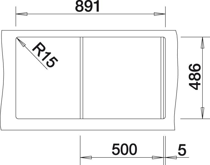 Blanco CLASSIC 5 S Silgranit tartufo obous. prov. s excentrem přísluš. ano