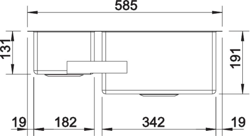 Blanco CLARON 340/180 U InFino Nerez hedvábný lesk dřez vpravo bez táhla